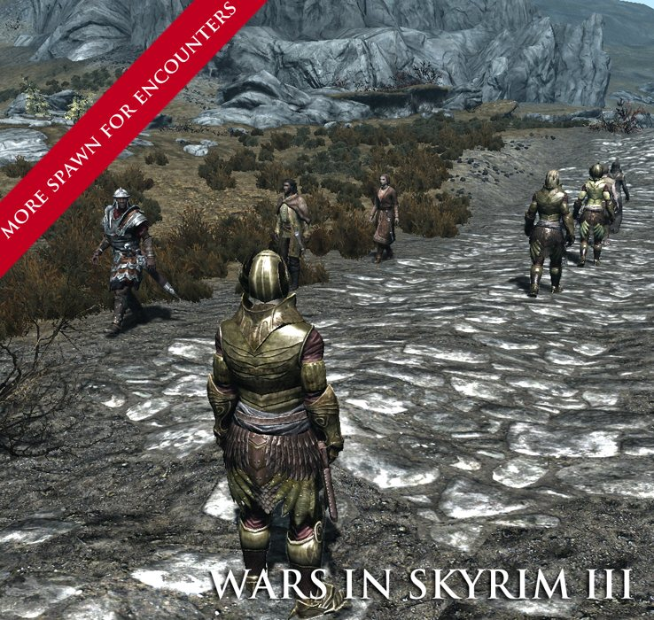 "Wars in Skyrim IV: мода ""война"""