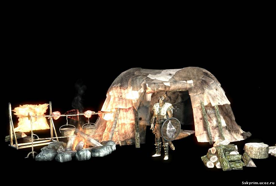 скайрим мод на переносной лагерь скачать