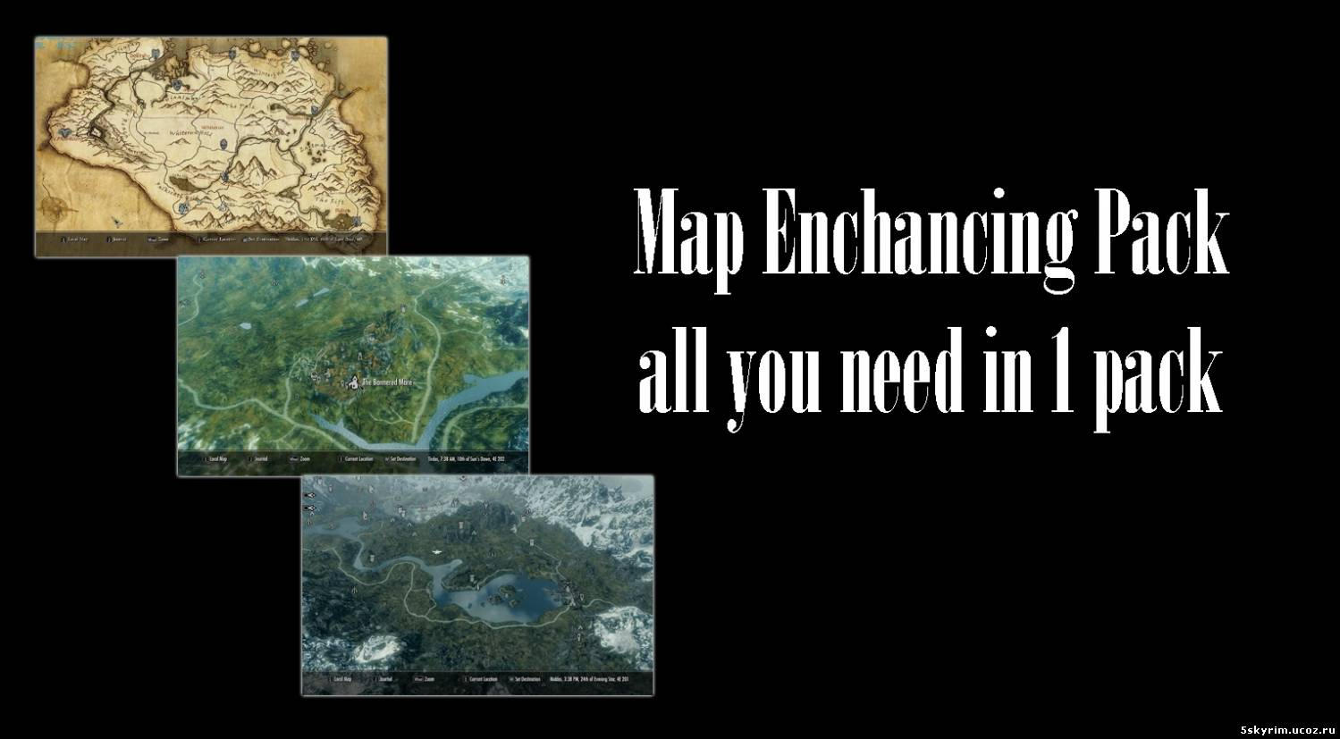 Карта для скайрим:  Map Enchancing Pack