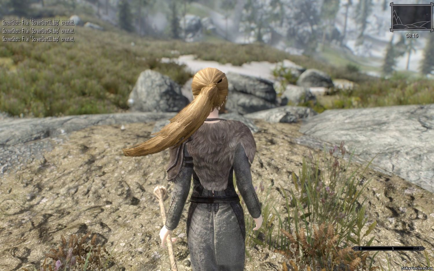 Анимация для причесок: Skyrim Hair Physics Project