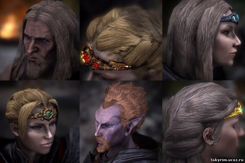HD ретекстур волос: Superior Lore-Friendly Hair - HD textures